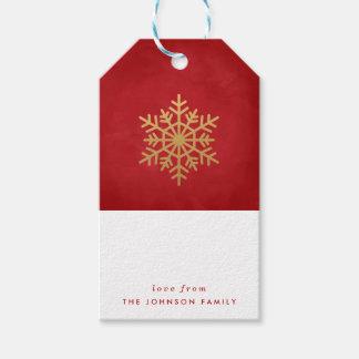 Étiquettes de cadeau personnalisées par flocon de