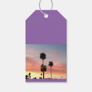 Étiquettes de coucher du soleil