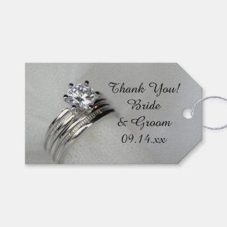 Étiquettes de faveur de Merci d'anneaux de mariage