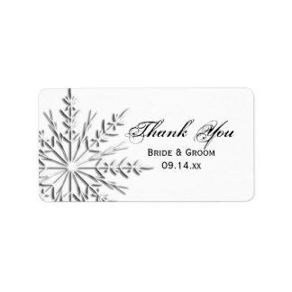 Étiquettes de faveur de Merci de mariage d'hiver