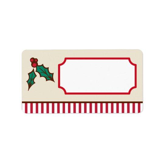 Étiquettes de houx de Noël