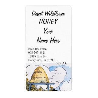 Étiquettes de mise en boîte de miel fait sur