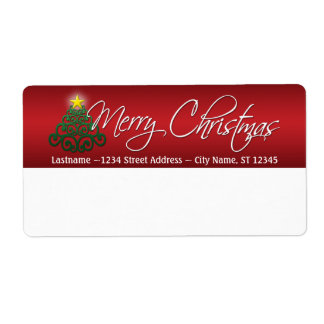 Étiquettes d'expédition de Joyeux Noël Étiquette D'expédition