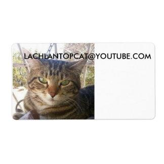 étiquettes d'expédition de lachlantopcat étiquette d'expédition
