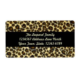 Étiquettes d'expédition d'empreinte de léopard étiquette d'expédition