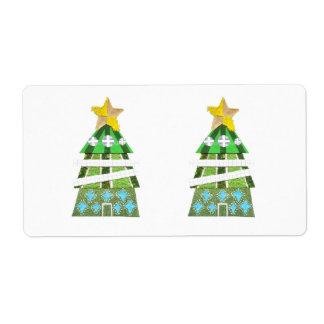Étiquettes d'expédition d'hôtel d'arbre de Noël