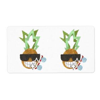 Étiquettes d'expédition frais d'ananas étiquette d'expédition