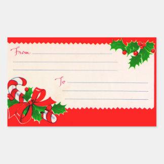 Étiquettes d'expédition vintages de Noël des