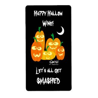 Étiquettes drôles de vin ou de bière de Halloween