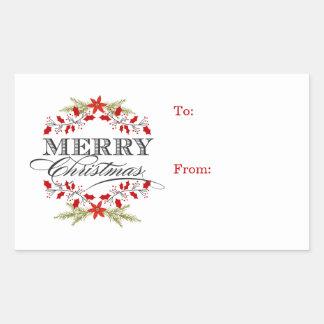 Étiquettes élégantes de cadeau de typographie de