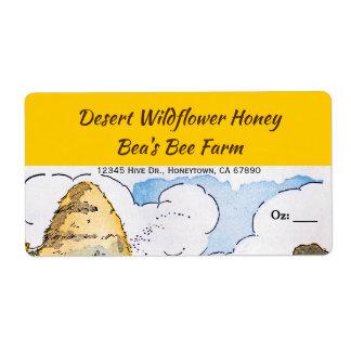 Étiquettes faits sur commande de miel de ruche