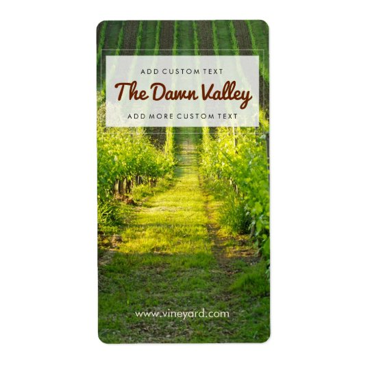 Étiquettes faits sur commande de vin de vignoble