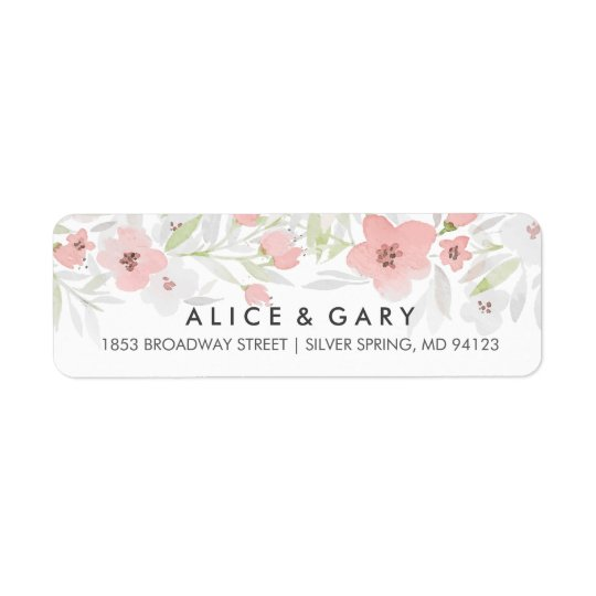 Étiquettes floraux roses de mariage d'aquarelle