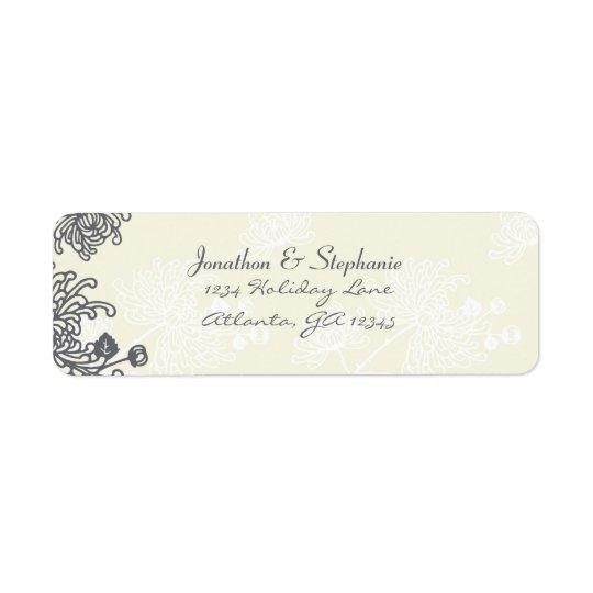 Étiquettes floraux vintages de mariage de charbon