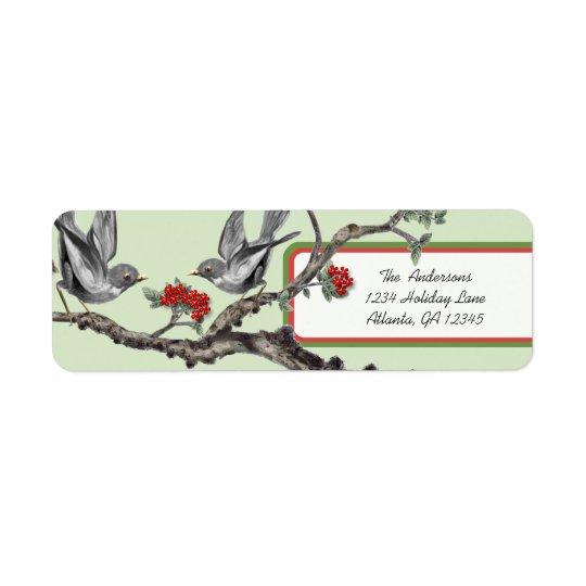 Étiquettes gris vintages rouges et verts de Noël