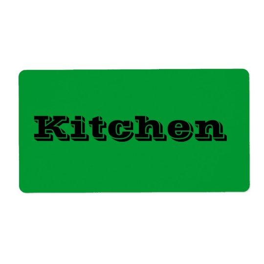 Étiquettes mobiles de cuisine en vert