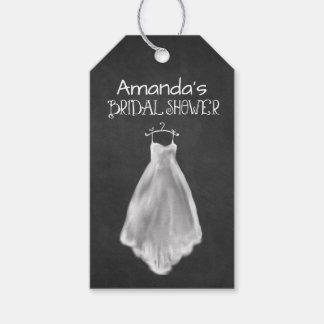 Étiquettes nuptiales de faveur de douche de robe