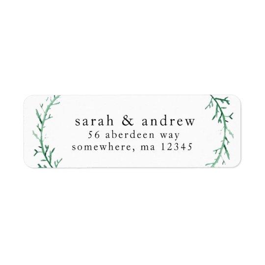 Étiquettes postales d'adresse de retour - le nom