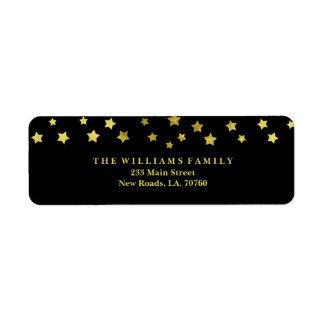 Étiquettes postales d'étoile d'or
