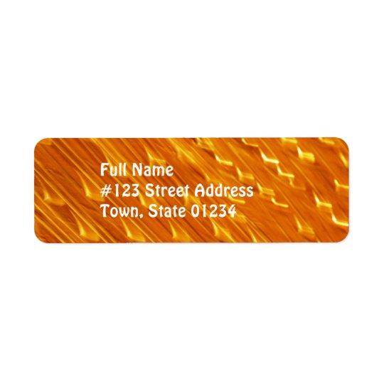 Étiquettes postales oranges de lave