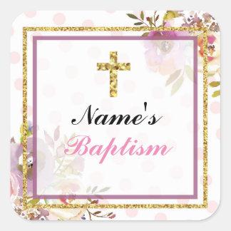 Étiquettes religieux de rose de croix