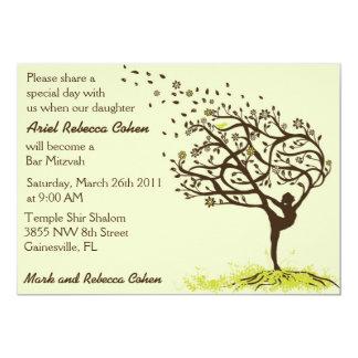Étirage de ma barre Mitzvah de membres Carton D'invitation 12,7 Cm X 17,78 Cm