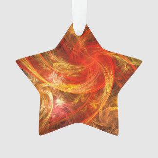 Étoile acrylique d'art abstrait de nova de tempête