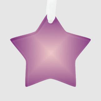 Étoile assez rose > ornement de Noël