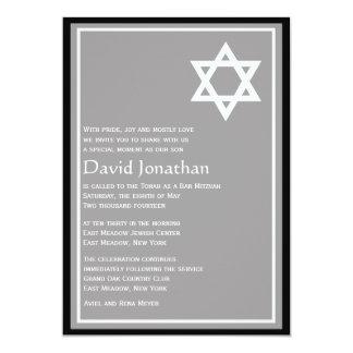 Étoile brillante d'invitation de Mitzvah de barre Carton D'invitation 12,7 Cm X 17,78 Cm