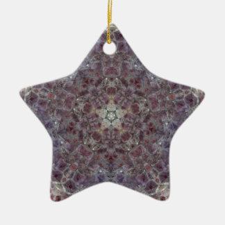 Étoile d'améthyste ornement étoile en céramique