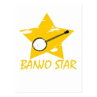 Étoile de banjo cartes postales