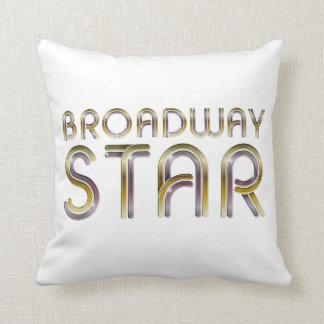 Étoile de Broadway de PIÈCE EN T Coussins Carrés