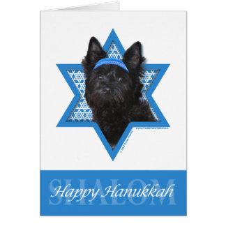 Étoile de David de Hanoukka - cairn Terrier Roscoe Carte