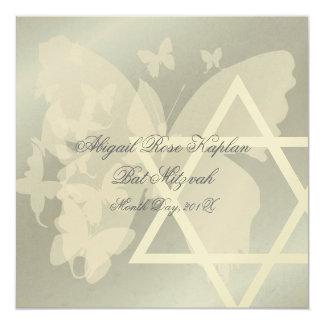 Étoile de David/invitations bat mitzvah de Carton D'invitation 13,33 Cm
