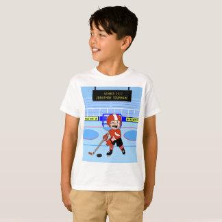 Étoile mignonne personnalisée de hockey sur glace t-shirt
