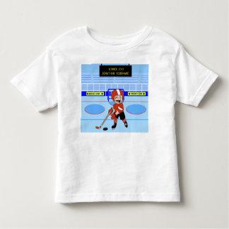 Étoile mignonne personnalisée de hockey sur glace t-shirt pour les tous petits