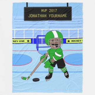 Étoile personnalisée mignonne de hockey sur glace