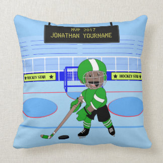 Étoile personnalisée mignonne de hockey sur glace oreiller