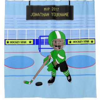 Étoile personnalisée mignonne de hockey sur glace rideaux de douche