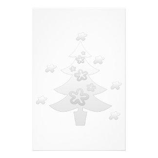 Étoile rêveuse d'argent d'arbre de Noël blanc Papeterie