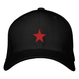 Étoile rouge casquette brodée
