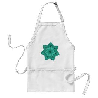 étoile verte au néon - conception moderne tablier
