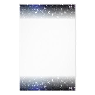 Étoiles bleues de belle papeterie de Noël