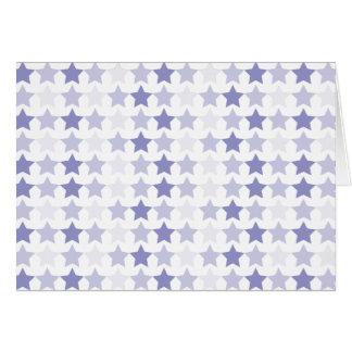 Étoiles bleues d'Ombre Carte De Vœux