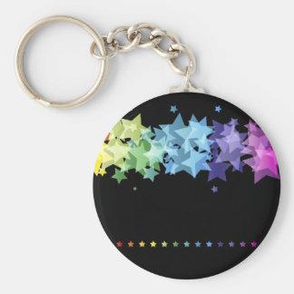 Étoiles colorées d arc-en-ciel porte-clefs