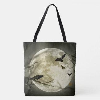 étoiles d'automne de batte de lune de Halloween de Tote Bag