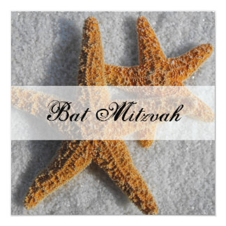Étoiles de mer dans le bat mitzvah de sable bristol personnalisé