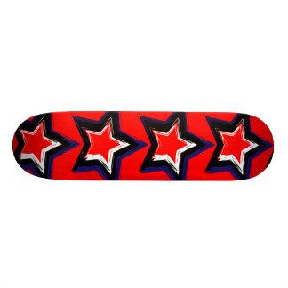 Étoiles de rouge plateaux de skateboards customisés