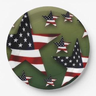 Étoiles des Etats-Unis Assiettes En Papier