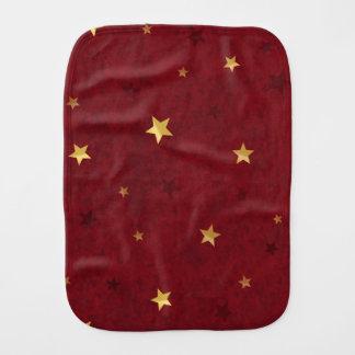 Étoiles d'or rouges royales linge de bébé